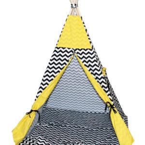 Namiot TIPI - Zygzak czarny żółty