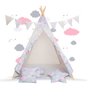 Namiot Tipi różowy ptyś